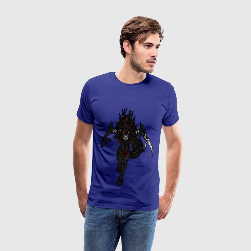 Knife Wolf - Men's Premium T-Shirt