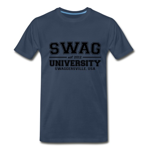 SWAG UNIVERSITY T-SHIRT NAVY BLUE - Men's Premium T-Shirt