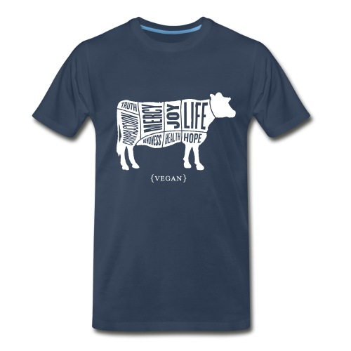 Men's 'Words to Live By' Shirt - Cow - Men's Premium T-Shirt