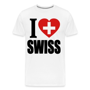 I Love Swiss T-Shirt - Men's Premium T-Shirt