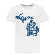 Baby & Toddler Shirts ~ Toddler Premium T-Shirt ~ Michigan Plate State