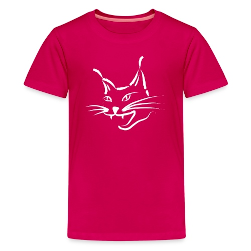 animal t-shirt lynx cougar lion wildcat bobcat cat wild hunter hunt hunting - Kids' Premium T-Shirt