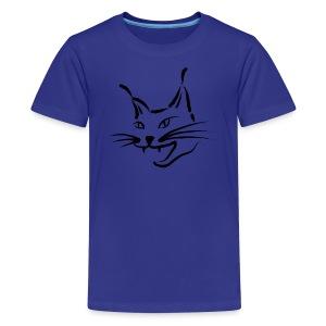 animal t-shirt lynx cougar lion wildcat bobcat cat wild hunter hunt hunting - Kids' Premium T-Shirt