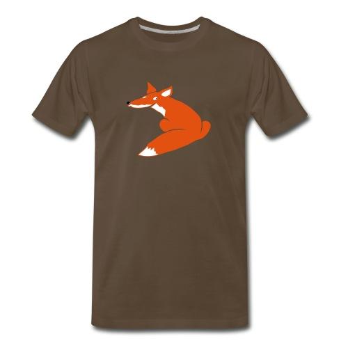 t-shirt fox foxy smart forest animal hunter hunting - Men's Premium T-Shirt