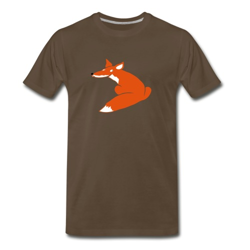 t-shirt fox foxy smart forest animal hunter hunting - Men's Premium T-Shirt