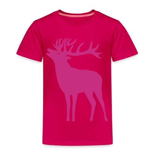 animal t-shirt wild stag deer moose elk antler antlers horn horns cervine hart bachelor party night hunter hunting - Toddler Premium T-Shirt
