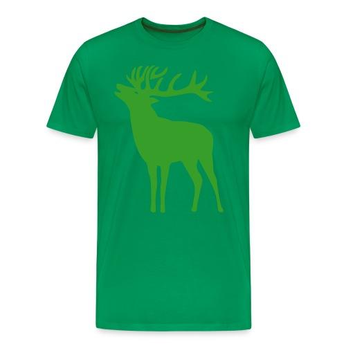 animal t-shirt wild stag deer moose elk antler antlers horn horns cervine hart bachelor party night hunter hunting - Men's Premium T-Shirt
