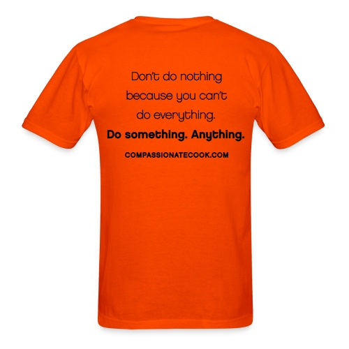 Men's Words to Live By Cow with Don't Do Nothing Quote on Back - Men's T-Shirt