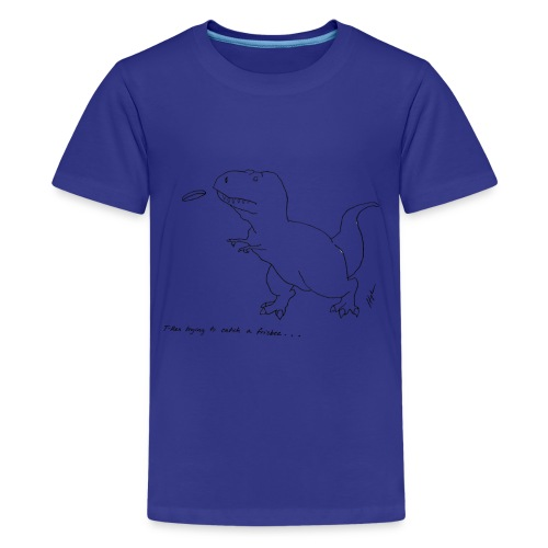 T-Rex Frisbee (Kids) - Kids' Premium T-Shirt
