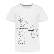 Baby & Toddler Shirts ~ Toddler Premium T-Shirt ~ T-Rex Trying Ukulele (Toddler T-Shirt)