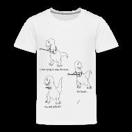 Baby & Toddler Shirts ~ Toddler Premium T-Shirt ~ T-Rex Trying Ukulele (Toddler T-Shirt)