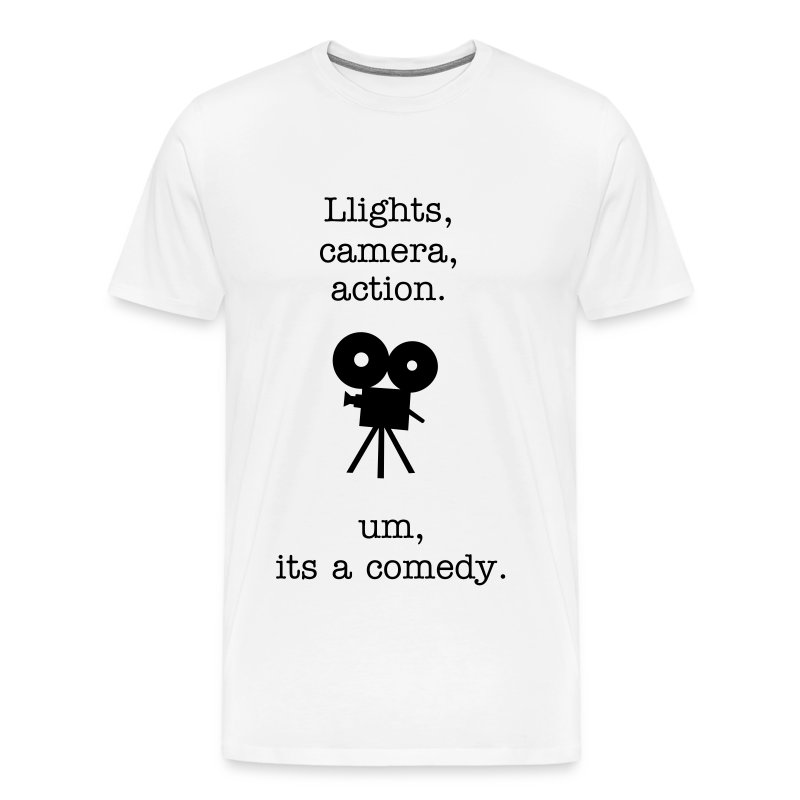 lights camera action - Men's Premium T-Shirt