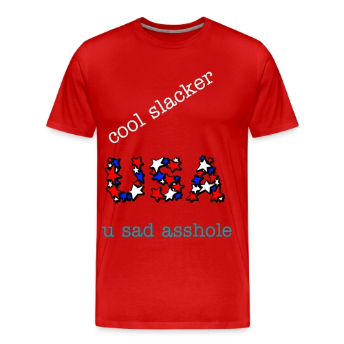 cool slacker funny shirt - Men's Premium T-Shirt