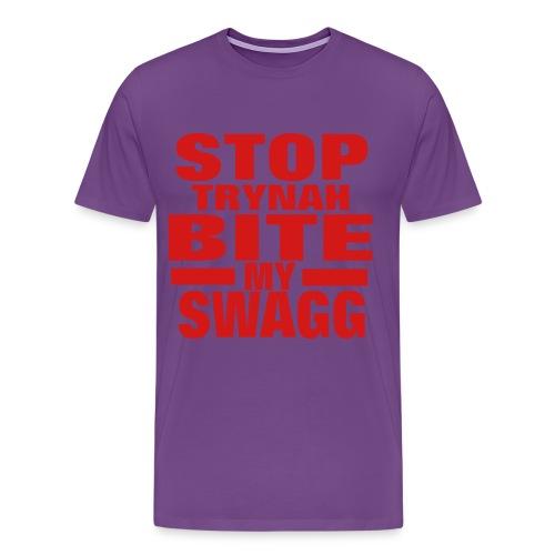 trynah bite my swag - Men's Premium T-Shirt
