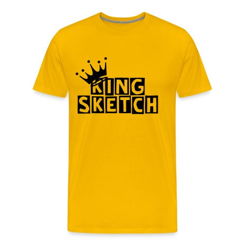 KING SKETCH W/CROWN - Men's Premium T-Shirt