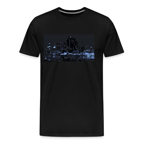 Detroit Skyline Abstract - Men's Premium T-Shirt