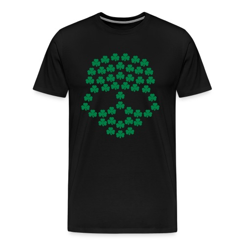 Lucky Head Shamrock BE Tee - Men's Premium T-Shirt