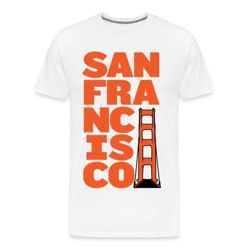 SF Men's White - Men's Premium T-Shirt