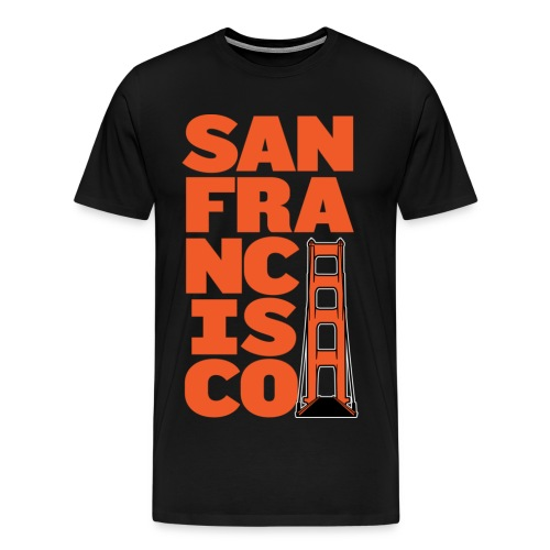 SF Men's Black - Men's Premium T-Shirt