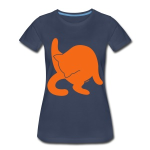Orange + - Women's Premium T-Shirt