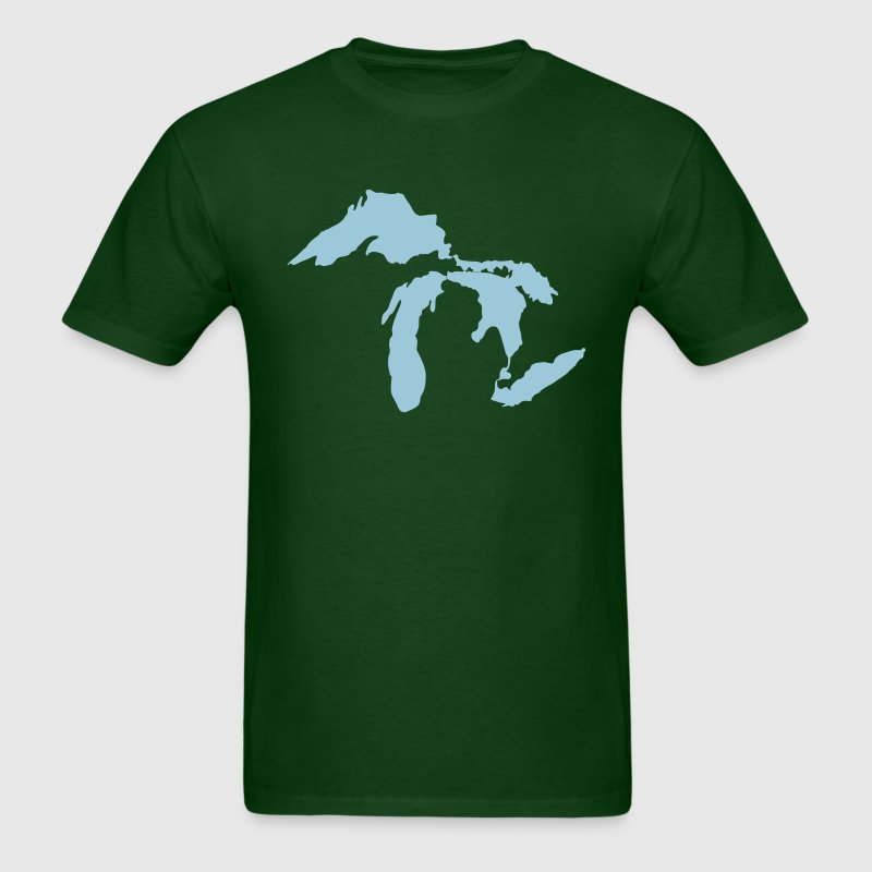 Michigan The Great Lakes State - Men's T-Shirt