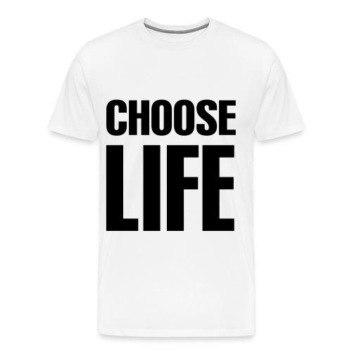 Choose Life (White) - Men's Premium T-Shirt