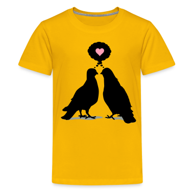 Love thinking  Doves - Two Valentine Birds 3c Kids' Shirts