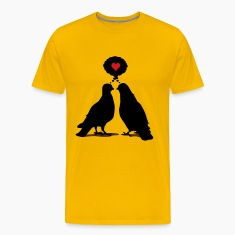Love thinking  Doves - Two Valentine Birds 3c T-Shirts