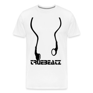 White Headphones - Men's Premium T-Shirt
