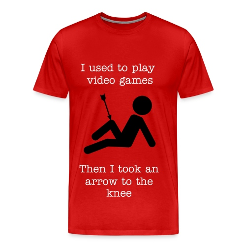 Arrow to the knee - Men's Premium T-Shirt