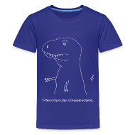 Kids' Shirts ~ Kids' Premium T-Shirt ~ T-Rex Rock Paper Scissors White (Kids)