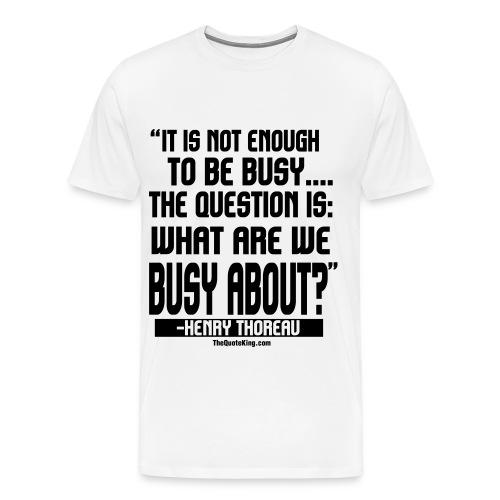 Henry Thoreau on Success - Men's Premium T-Shirt