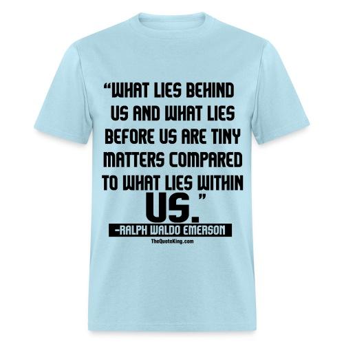Ralph Waldo Emerson on Success - Men's T-Shirt