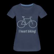 Women's T-Shirts ~ Women's Premium T-Shirt ~ I heart biking