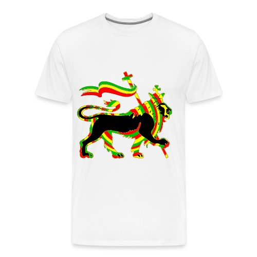 rasta lion shirt - Men's Premium T-Shirt