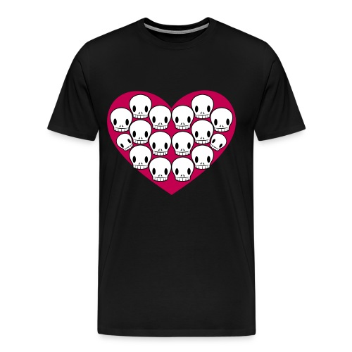 Skull love - Men's Premium T-Shirt