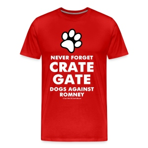 Official Dogs Against Romney Crate Gate XXL Tee - Men's Premium T-Shirt