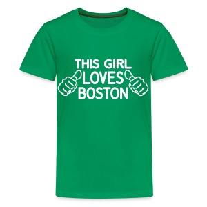 This Girl Loves Boston - Kids' Premium T-Shirt