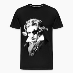 Beethoven rock Kiss Black Metal T-Shirts