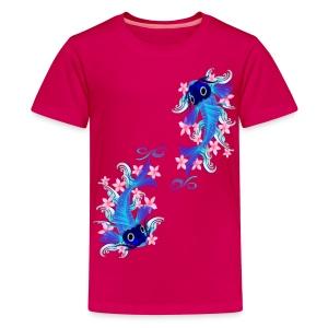 Two Blue Koi  - Kids' Premium T-Shirt