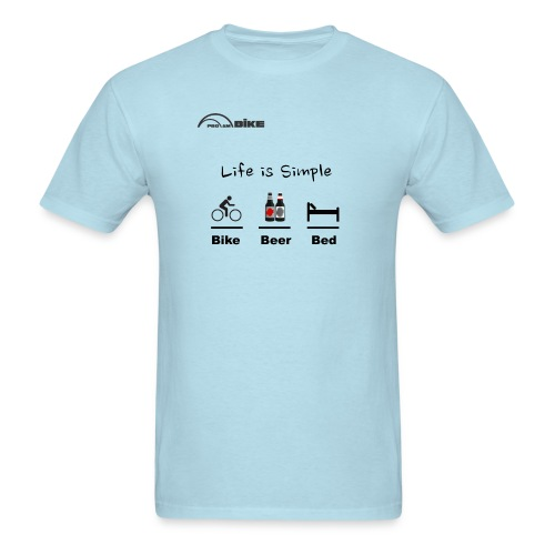Cycling T Shirt - Bike - Beer - Bed - Men's T-Shirt