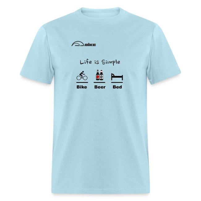 9e935a6ce ProAm Bike | Cycling T Shirt - Bike - Beer - Bed - Mens T-Shirt