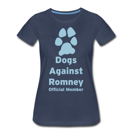 Official Dogs Against Romney Pack Member Women's Plus Size - Women's Premium T-Shirt