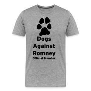 Dogs Against Romney Offical Member Tee - Men's Premium T-Shirt