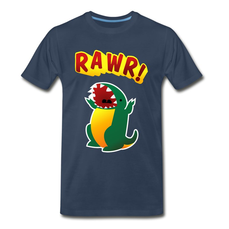 Mens 3XL / 4XL : RAWR - Men's Premium T-Shirt