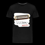 T-Shirts ~ Men's Premium T-Shirt ~ Blockin' harmonica t-shirt (3X-4X)