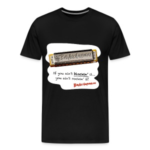 Blockin' harmonica t-shirt (3X-4X) - Men's Premium T-Shirt