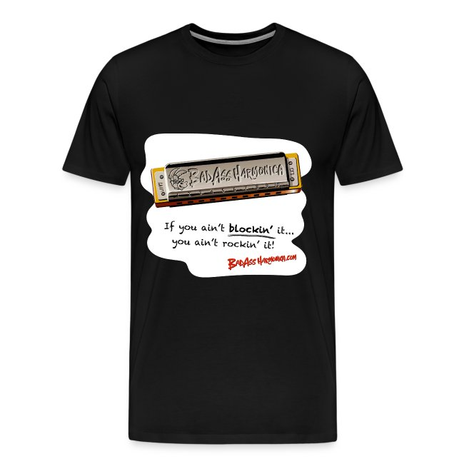 Blockin' harmonica t-shirt (3X-4X)