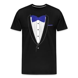 Tuxedo T Shirt Classic Navy Tie - Men's Premium T-Shirt
