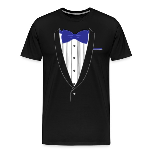 Tuxedo T Shirt Classic Navy Tie - Men's Premium T-Shirt